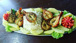 Lagosta Grelhada com Arroz Piemontese,.jpg.jpg.jpg.jpgnham nham delícia do Chefe _florairton Flor no
