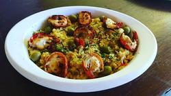 Delicioso Risoto de Frutos do mar Lagostinha Grelhada uma das Delícias do chefe Airton Flor na Maest