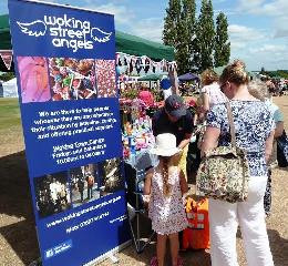 Street Angels stall at Pyrford Flower Show