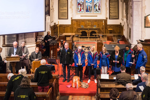 2018 Woking Street Angels Commissioning Service at St. Peter's Church, Old Woking