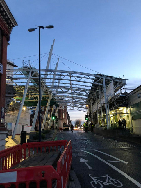The canopy in Albion Square on January 10, 2018 - the day demolition began