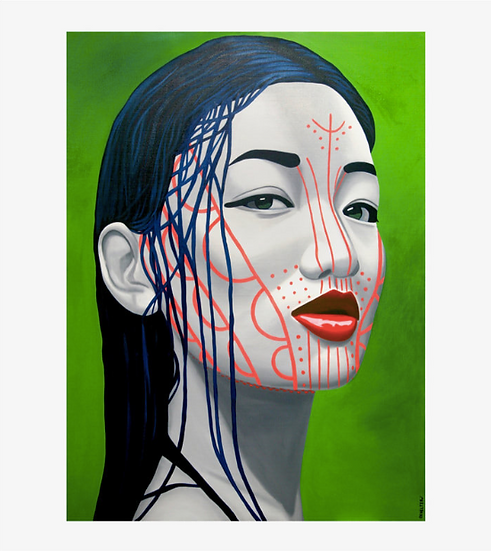 'Mindat Chin' Limited Edition Lithograph