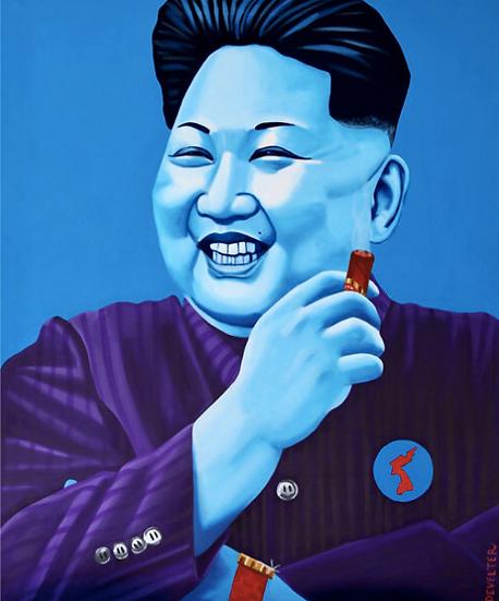 'Kim Jong-Blue' - Limited Edition Lithograph