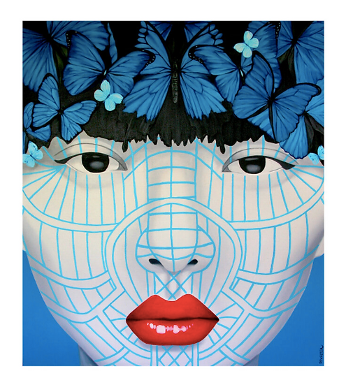 'Butterfly Muun Chin' Limited Edition Lithograph