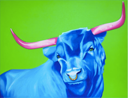 'Blue Bull' Limited Edition Lithograph