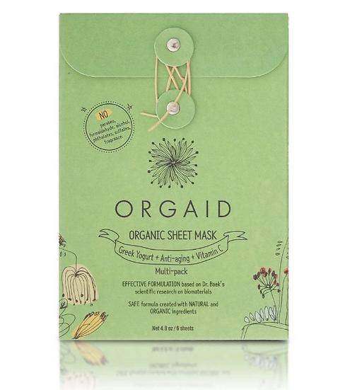 Orgaid Face sheet mask MULTI-PACK   Box of 6