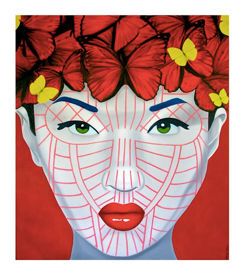 'Hkin Butterfly Chin' Limited Edition Lithograph