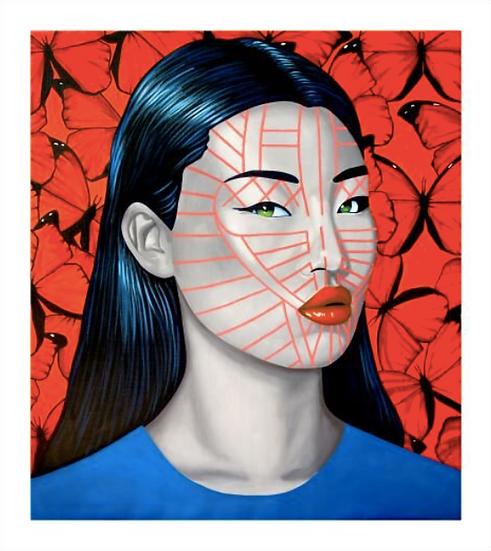 'Layente Chin' Limited Edition Lithograph