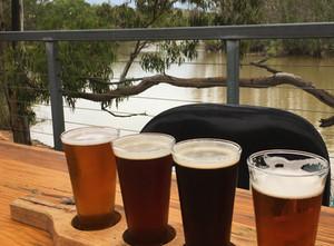 The Riverland's Wilkadene-Woolshed Brewery.  Beautiful brews – Stunning views!