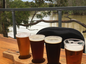 The Riverland's Wilkadene-Woolshed Brewery.  Beautiful brews – Stunning views!