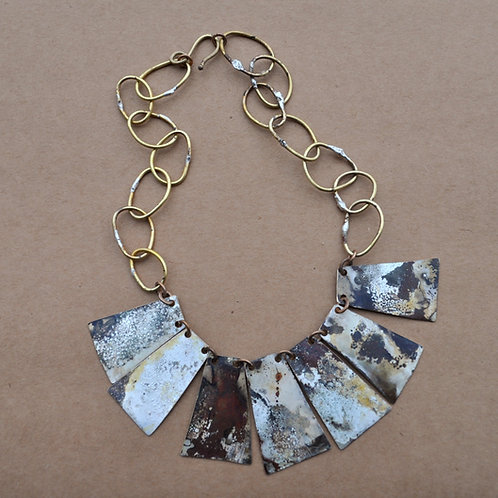 Rozy Lentz Silver Bib Necklace