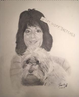 Angela P sister and pup sketch (2).JPG