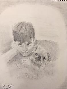 Boy and Dog sketch