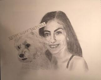 Angela P Marissa and dog final sketch (2