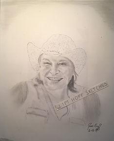 Rick's woman by car sketch (2).JPG