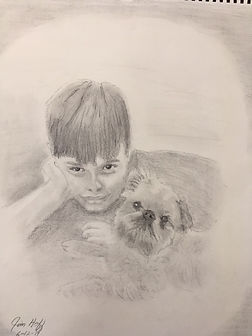 ruthann boy and dog sketch.JPG
