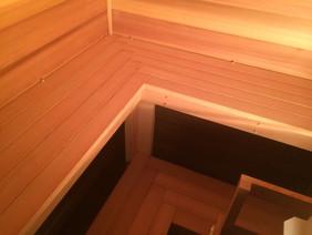 Sauna interior details