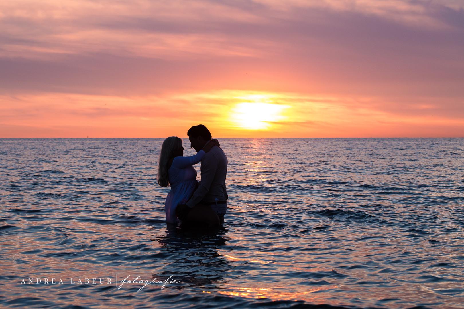 loveshoot op het strand in zeeland