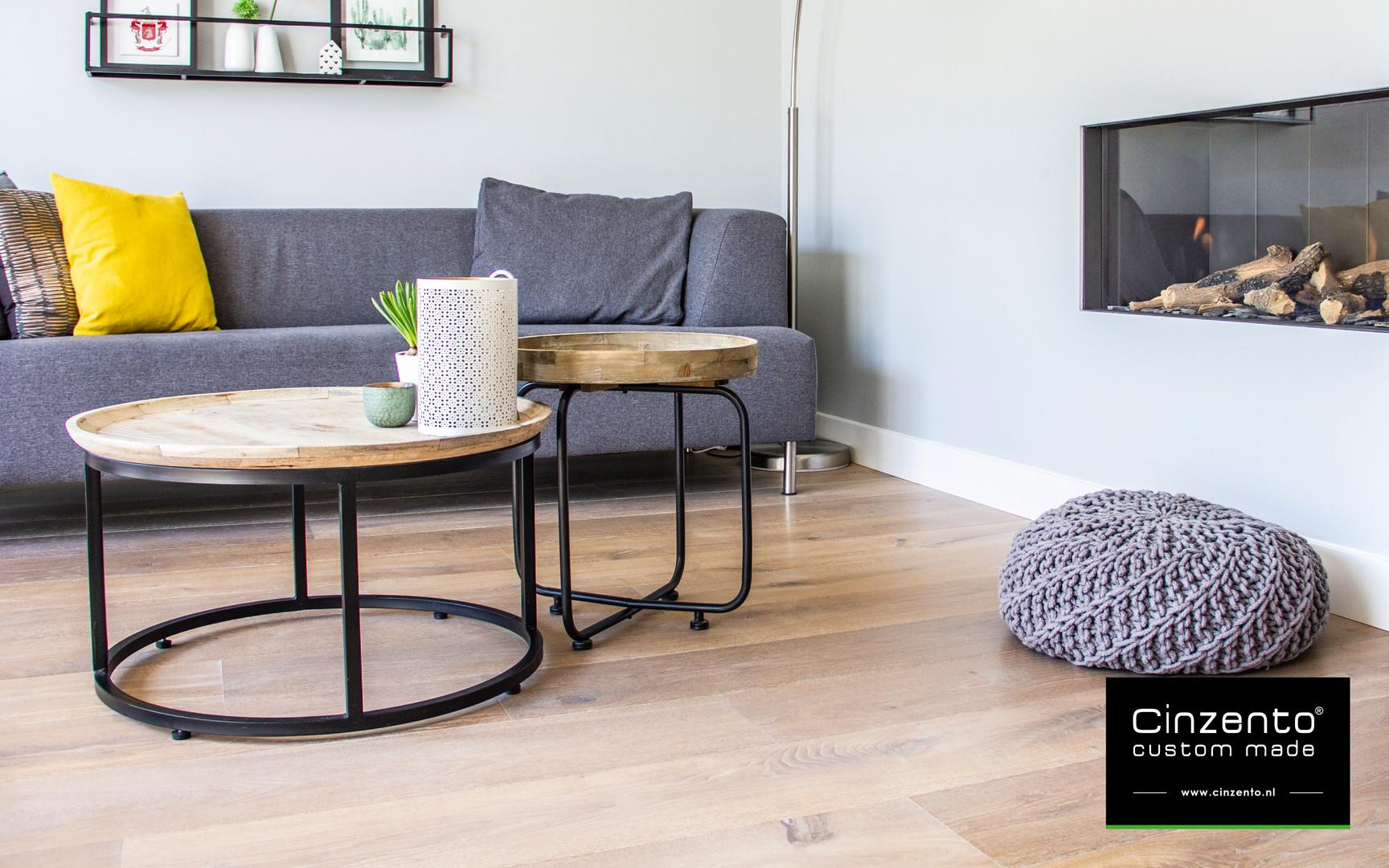Cinzento houten vloer