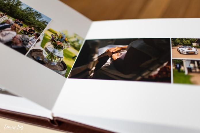 Vlakliggende pagina's in trouwalbum