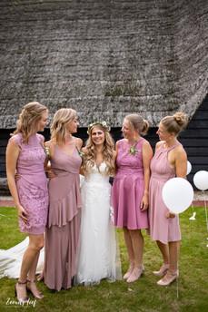Bruidsmeisjes roze
