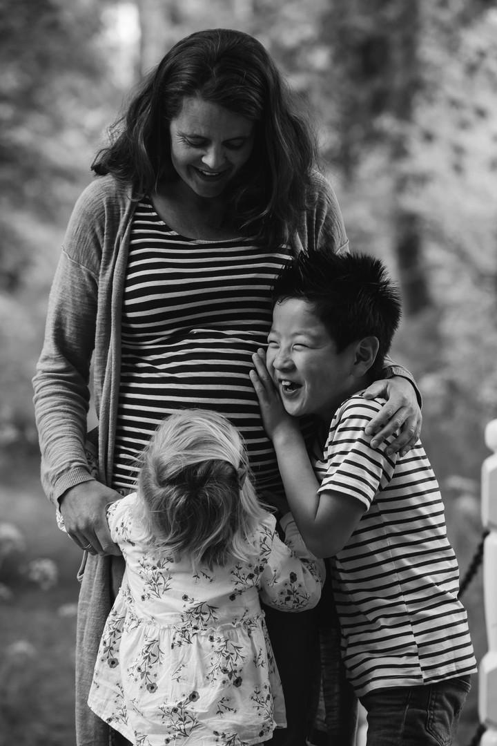 fotoreportage zwangerschap met kinderen