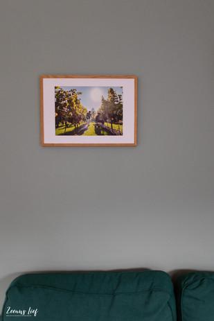 Foto in houten lijst