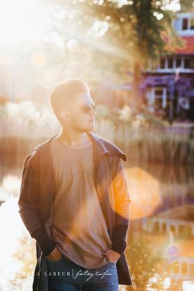 Portretfoto met zonsondergang - Middelburg