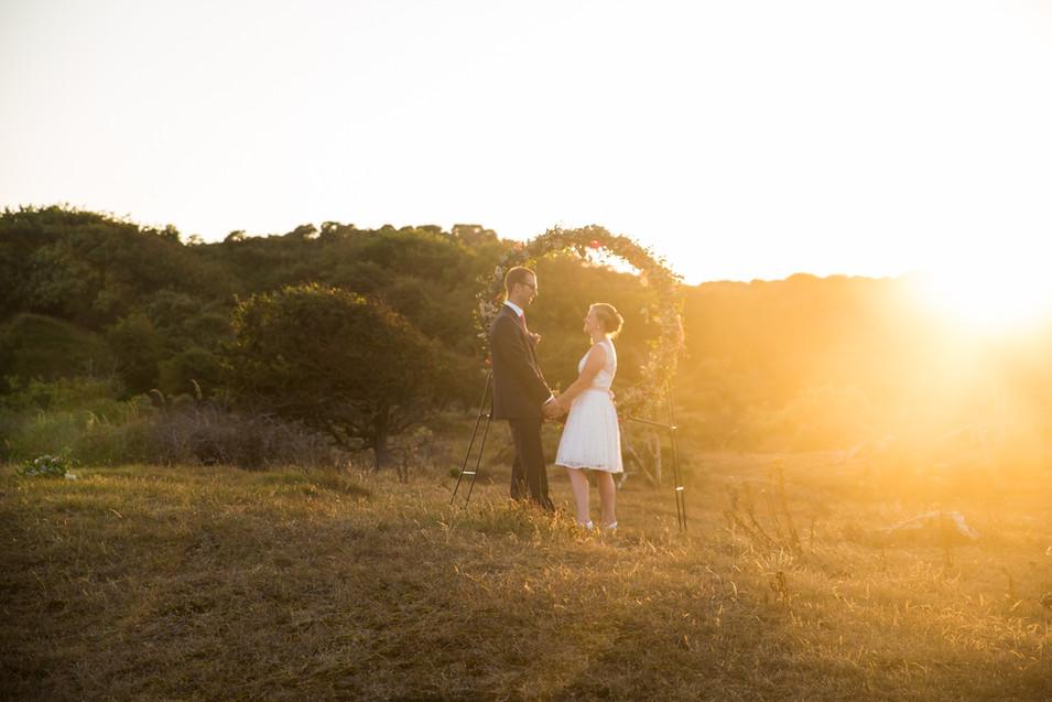 Zonsondergang bruidsreportage
