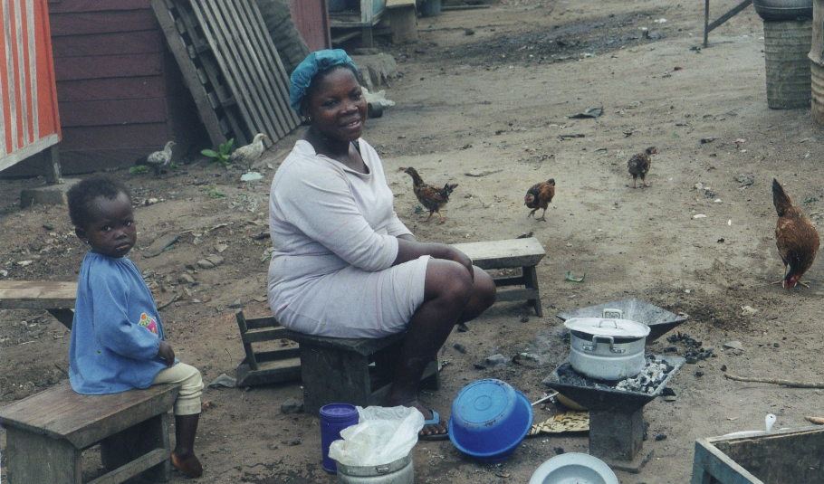 Ghana woman cooking