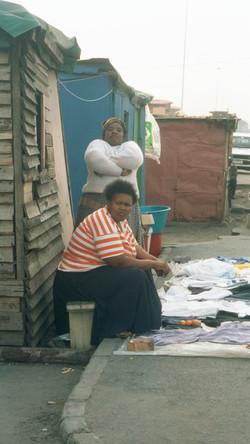 Women doing laundry