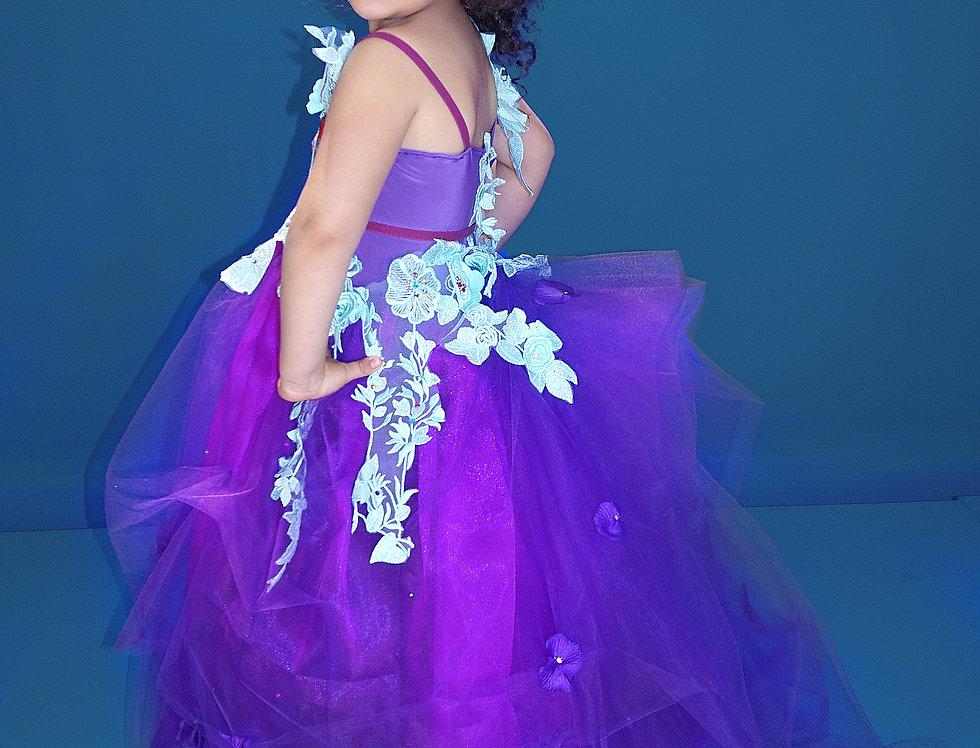 Purple Princess 3D lace