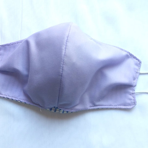 Reversible Mask: Lavender-Small Flower