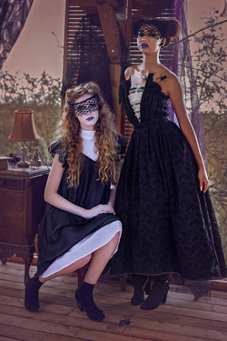 Haunted Fairyland, Theo Doro fashion line, Adelyn Photography, Models Alexis and Amani