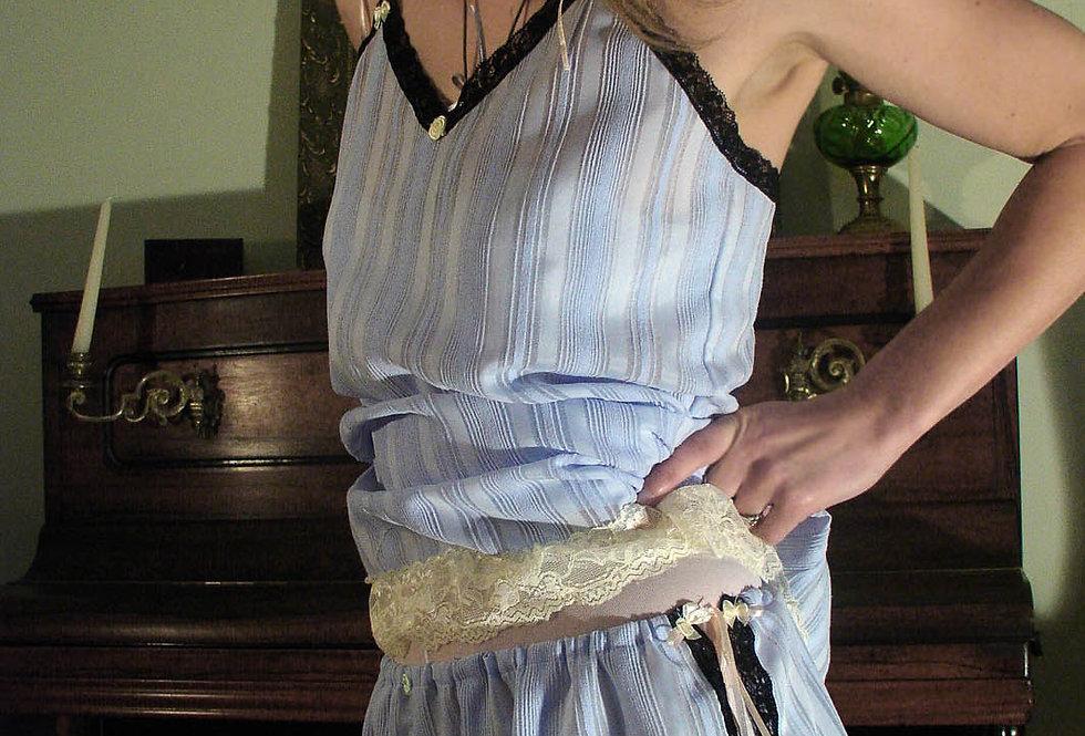 Sheer short nightgown and shorts