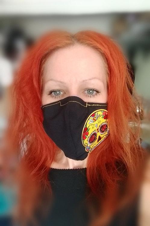 Yellow Sugar Skull Mask