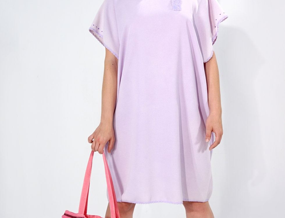 Lavender Tunic With Lace