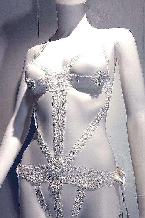 White Lingerie Bodysuit
