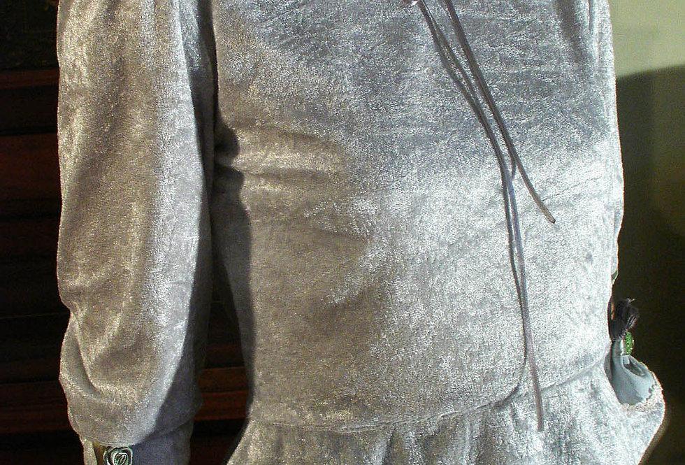 Grey velur blouse