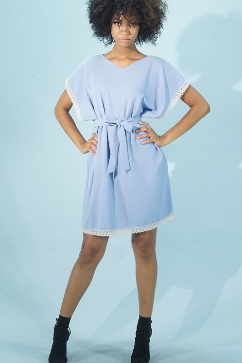 Blue Tunic With Lace