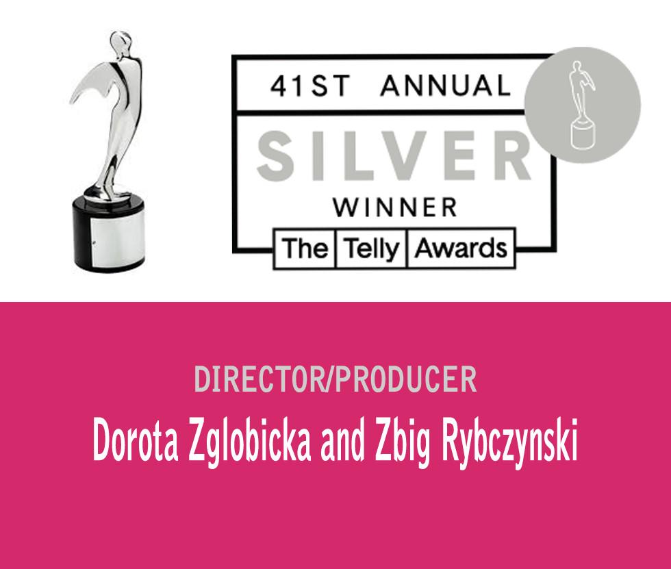 SilverTelly Award Dorota Zglobicka Zbig Rybczynski