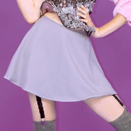 Pink and Gray Mini Skirt