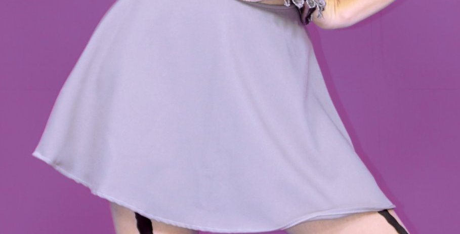 Pink and Gray Mini Skirt