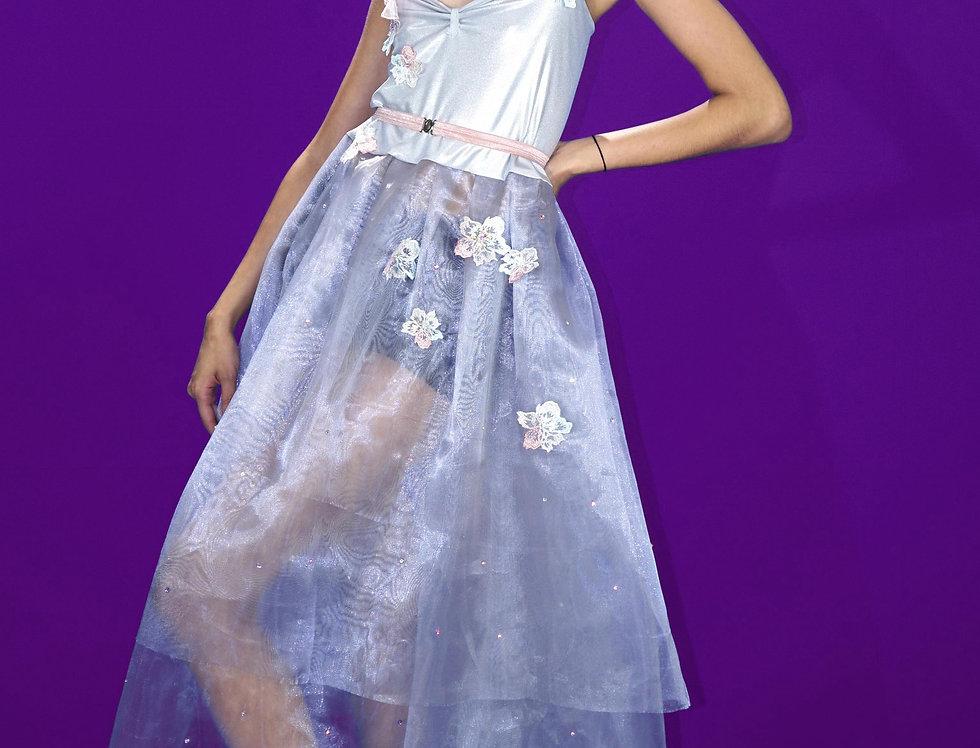 Silver Flower Dress