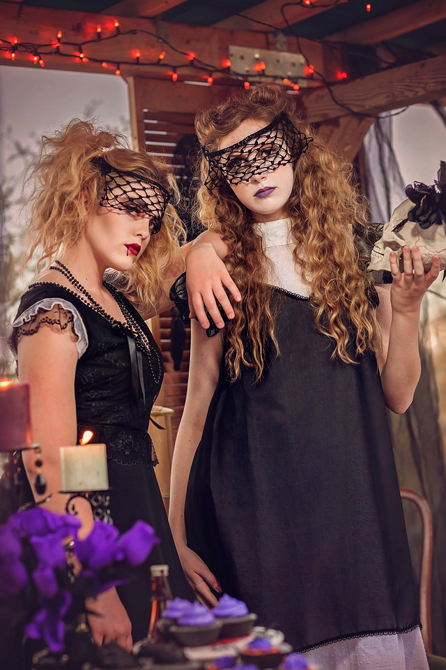 Haunted Fairyland, Theo Doro fashion line, Adelyn Photography, Models Julia and Alexis
