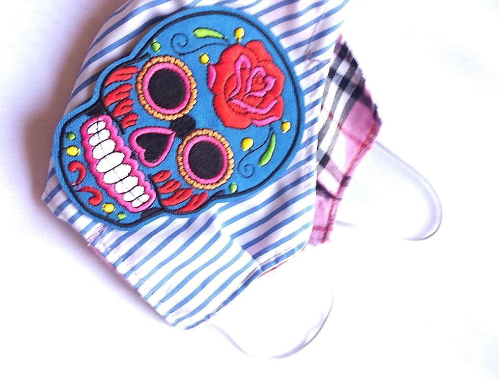 Blue Sugar Skull Mask