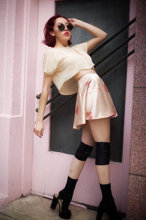 Mini Satin Skirt
