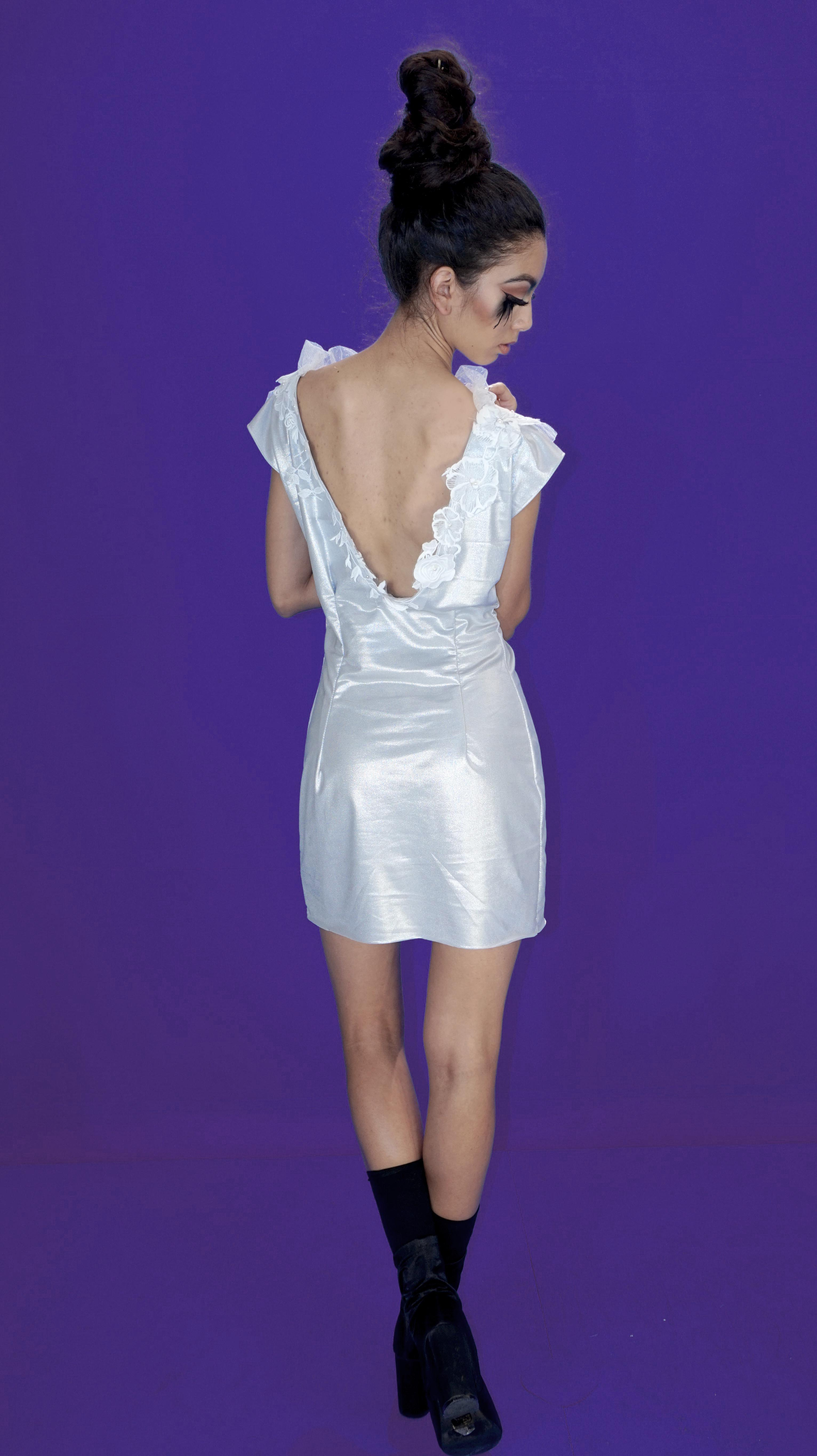 silver  holiday dress
