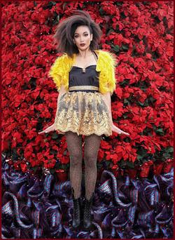 golden holiday dress
