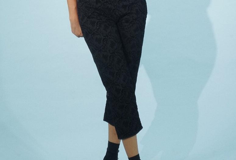 Black Flower Pants